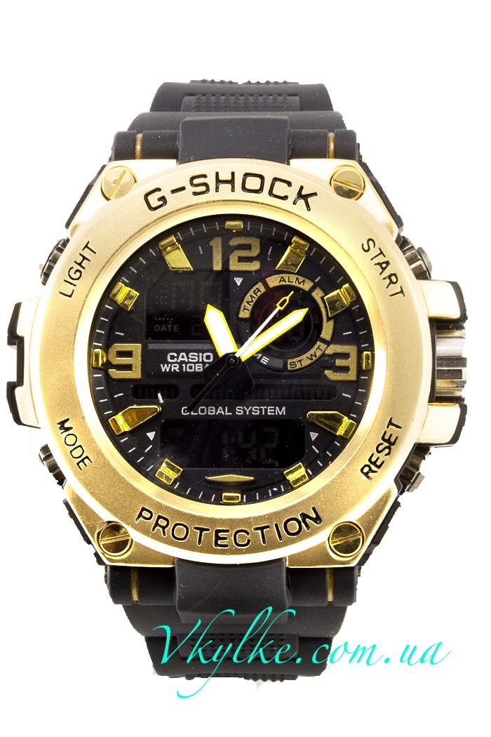 Часы Casio G-Shock GST-1000 черные с золотом