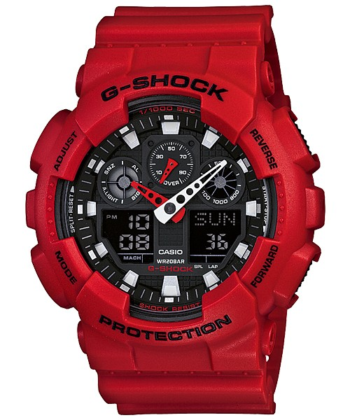 Casio G-SHOCK  GA-100B-4AER красные