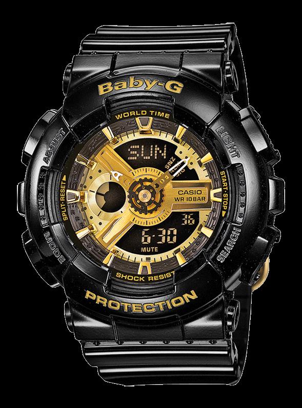 CASIO Baby-G BA-110-1AER черные с золотом