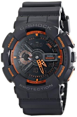 Casio G-Shock GA-110TS-1A4ER черные с оранжевым