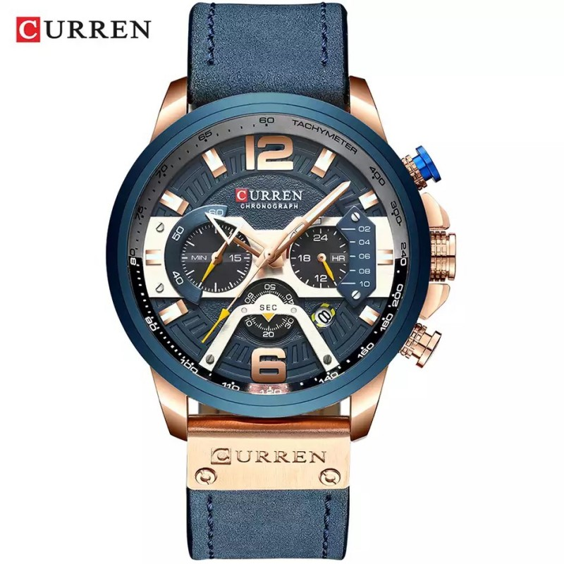 ЧАСЫ CURREN 8329 rose gold blue