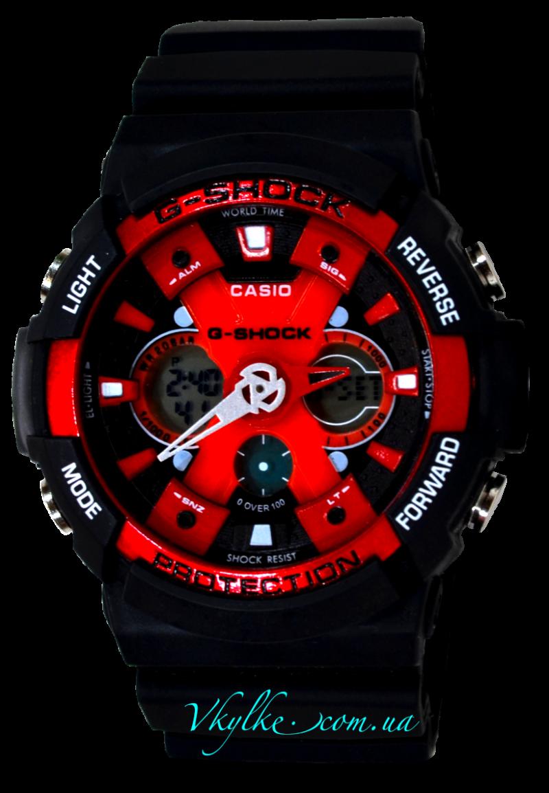 Копия Casio G-Shock GA-200 черный с красным