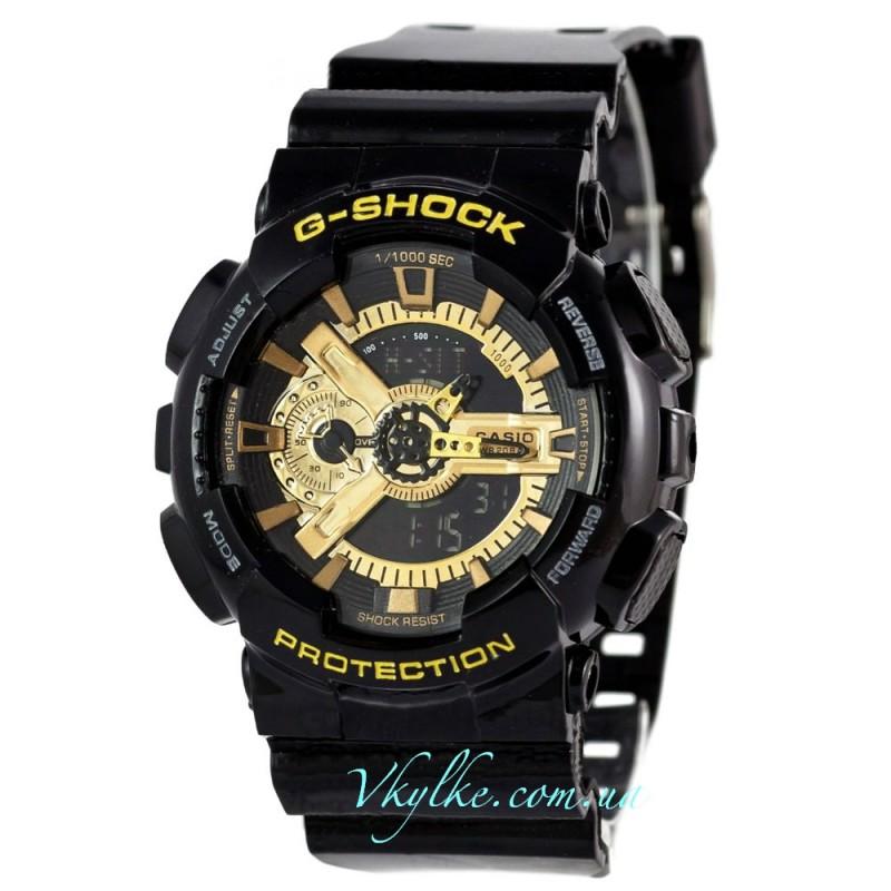 Копия Casio G-Shock GA-110 черные с золотом