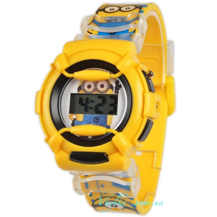 Часы Миньоны 3d желтые