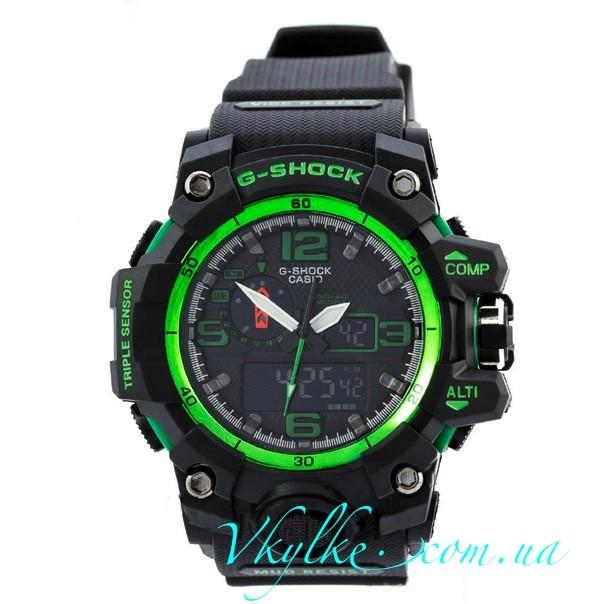 Часы G Shock GWG-A1000 MUDMASTER черные с зеленым