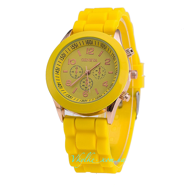 Часы Geneva желтого цвета