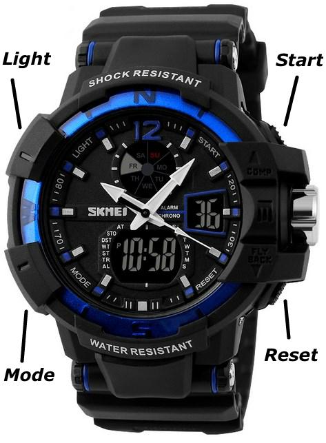 Инструкция по настройке часов Skmei Shock Resistant(1040) 3a9b7e355152e